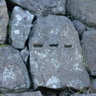 石垣に矢穴