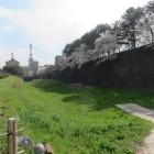 二の丸東側の空堀と石垣