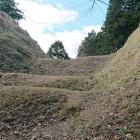 茶臼郭と小郭の間の畝堀