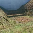 蔵郭と近藤郭の間の障子堀