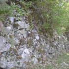 二の丸北東に伸びる石垣
