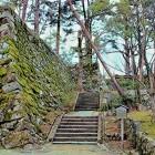 天守台(南側)登り口