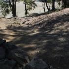 同左石畳跡、発掘後埋戻し