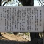 本丸に在る石畳道跡の説明板