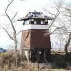 本丸西高土塁に櫓風展望台