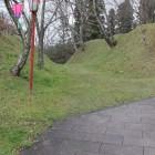 中の丸と本丸2郭間の堀と土塁