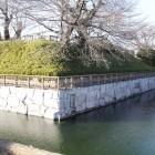 本丸南東角の土塁と濠