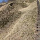 階段横の竪堀