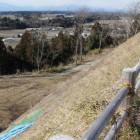 本丸西土塁より那珂川方面を見る
