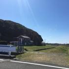 朝比奈川に張り出す城