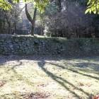 北麓の士屋敷跡石垣