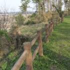 本丸東側柵列