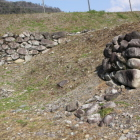 西側出曲輪角の石垣