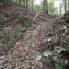 主郭北側の曲輪の石積み虎口跡