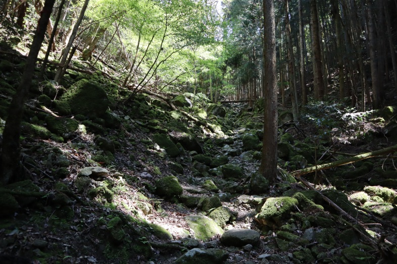 谷落としの岩