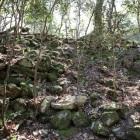 侍屋敷跡の石積み