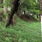 西の城の土塁壕