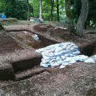 今井城二の丸発掘調査現場
