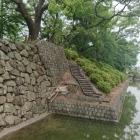 北御門の石垣と堀