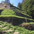 本丸北側の六段石垣
