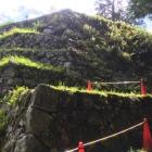 本丸北西側の石垣