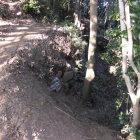 三本松郭谷側の石垣