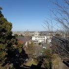 天守跡からの眺望・玉城中学校(三の丸)