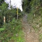 切通状の登城路