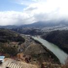 天守台からの眺望・木曽川