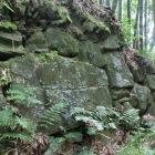 居館跡の大石を利用した石垣