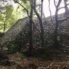 本丸大手口東側の石垣