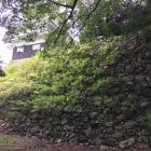 本丸鉄櫓の西下の石垣