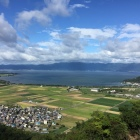 西ノ丸から見た琵琶湖