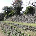 本丸東側の堀と石垣と犬走
