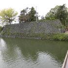 本丸南側虎口を挟んだ西側の石垣