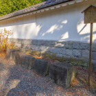 石垣に使われていた石