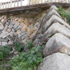 鉄門跡にある石垣