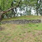 3郭東側から見た本郭下の石垣