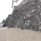 天守への石段と石垣