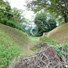 内郭東側の堀底