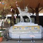 有備館駅の伊達政宗公の騎馬像