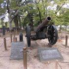 復元記念砲(長州群が小倉城を砲撃した際に使用)