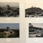 浜松城変化、左上復元天守築城時、左下復元天守門時、右上天守台に展望台時、動物園時