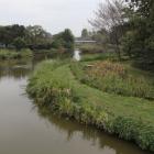 館と御所沼の間に堀が有る