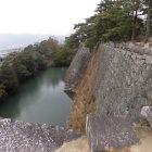 高石垣と水掘
