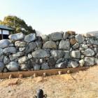 復興された石垣