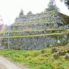 本丸の六段の石垣