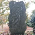 筑井古城碑です。地元の名主さんがご先祖様と津久井城のリスペクトを示すために建てた、筑井古城記碑