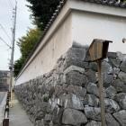 水之手門跡と城壁
