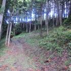 城下桃源院側からの登城路